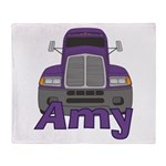 Trucker Amy Throw Blanket