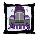 Trucker Amy Throw Pillow