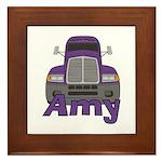 Trucker Amy Framed Tile