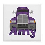 Trucker Amy Tile Coaster
