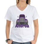 Trucker Andrea Women's V-Neck T-Shirt