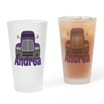 Trucker Andrea Drinking Glass