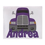 Trucker Andrea Throw Blanket