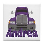 Trucker Andrea Tile Coaster