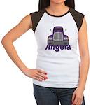 Trucker Angela Women's Cap Sleeve T-Shirt