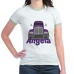 Trucker Angela Jr. Ringer T-Shirt