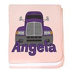 Trucker Angela baby blanket