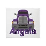 Trucker Angela Throw Blanket