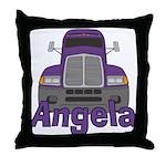 Trucker Angela Throw Pillow