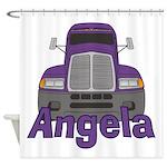 Trucker Angela Shower Curtain