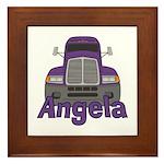 Trucker Angela Framed Tile