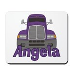 Trucker Angela Mousepad