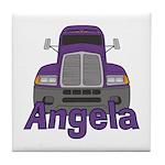 Trucker Angela Tile Coaster