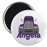 Trucker Angela Magnet