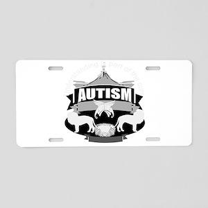 autismsym Aluminum License Plate