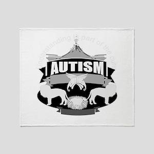 autismsym Throw Blanket