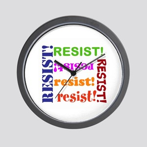 Resist! Join the resistance Wall Clock