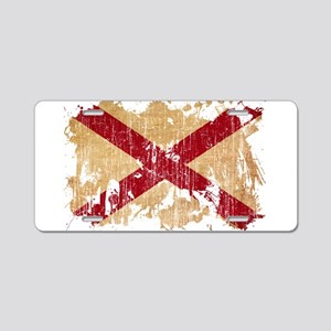 Alabama Flag Aluminum License Plate