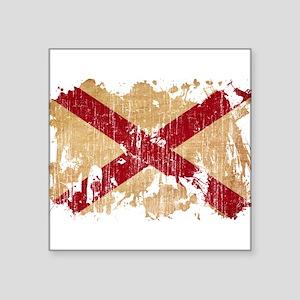 """Alabama Flag Square Sticker 3"""" x 3"""""""