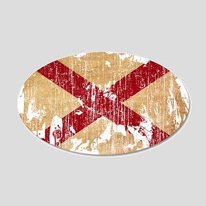 Alabama Flag 22x14 Oval Wall Peel