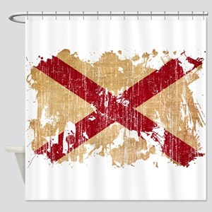Alabama Flag Shower Curtain