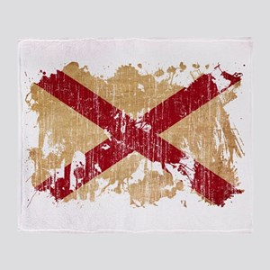 Alabama Flag Throw Blanket
