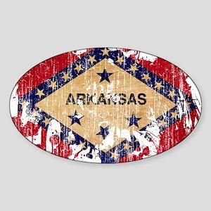 Arkansas Flag Sticker (Oval)