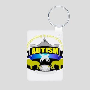 autismsymcolor Aluminum Photo Keychain