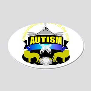 autismsymcolor 22x14 Oval Wall Peel