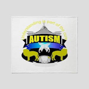 autismsymcolor Throw Blanket