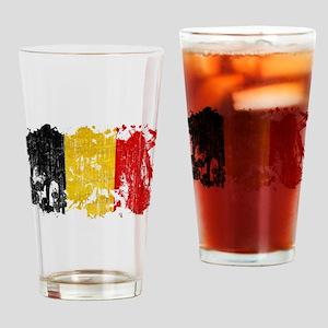 Belgium Flag Drinking Glass