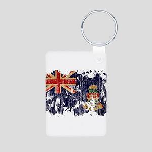 Cayman Islands Flag Aluminum Photo Keychain