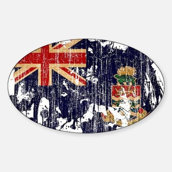 Cayman Islands Flag Sticker (Oval)