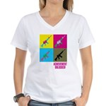 Achievement unlocked! Women's V-Neck T-Shirt