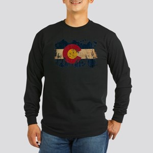 Colorado Flag Long Sleeve Dark T-Shirt