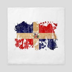 Dominican Republic Flag Queen Duvet