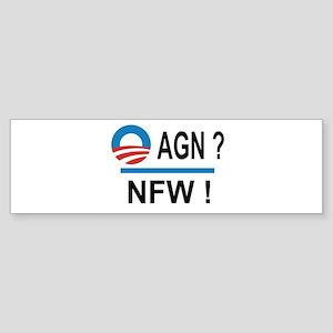 Obama Again ? NFW ! Sticker (Bumper)