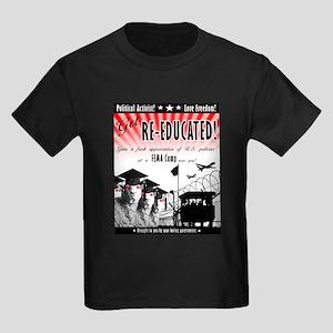 Re-Education Camp Ad Kids Dark T-Shirt