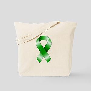 Green Ribbon Tote Bag