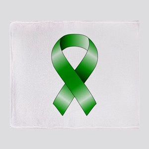 Green Ribbon Throw Blanket