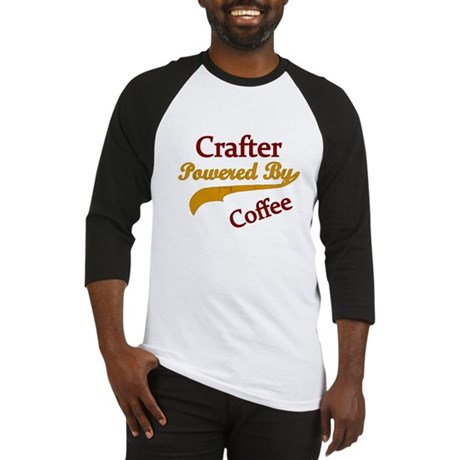 Crafter Powered By coffee Baseball Jersey