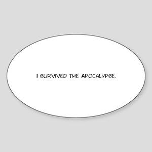 I survived the apocalypse Sticker (Oval)