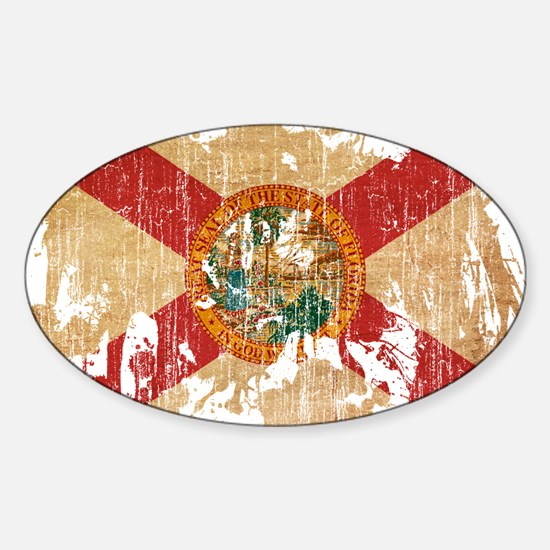 Florida Flag Sticker (Oval)