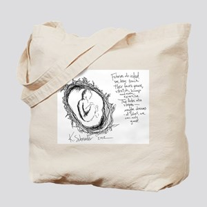 Baby in Womb Tote Bag