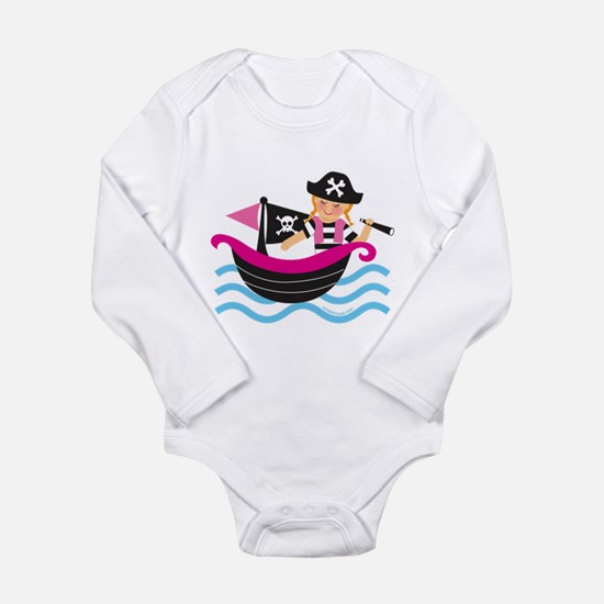 Unique Pirate girl Long Sleeve Infant Bodysuit