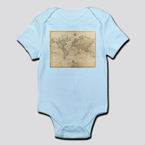 Vintage Map of The World (1800) Body Suit