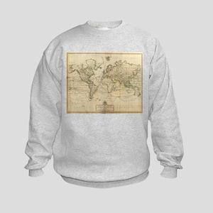 Vintage Map of The World (1800) Sweatshirt