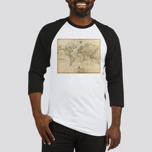 Vintage Map of The World (1800) Baseball Jersey