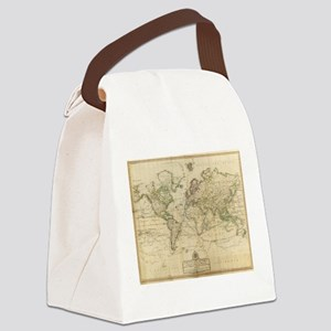Vintage Map of The World (1800) Canvas Lunch Bag