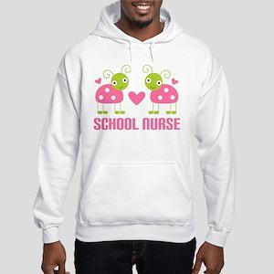 School Nurse Ladybug Hooded Sweatshirt